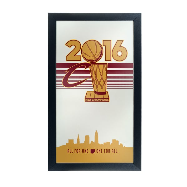 Cleveland Cavaliers 2016 NBA Chamipons Framed Logo Mirror 19392441