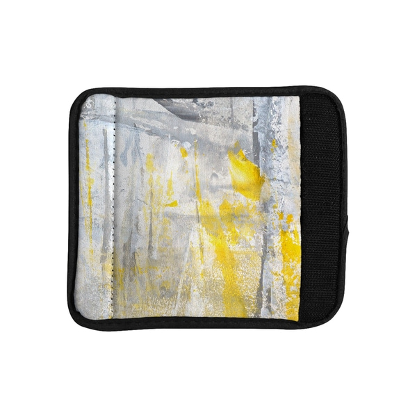 KESS InHouse CarolLynn Tice 'Abstraction' Grey Yellow Luggage Handle Wrap