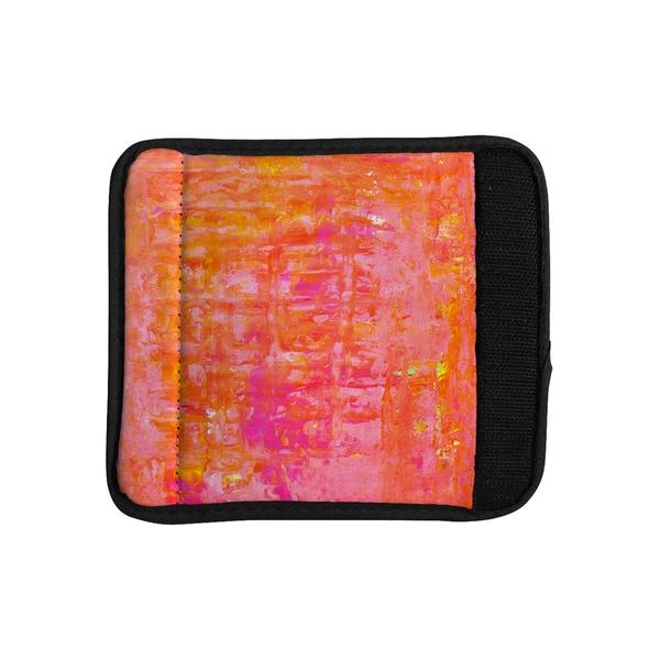 KESS InHouse CarolLynn Tice 'Wiggle' Orange Luggage Handle Wrap