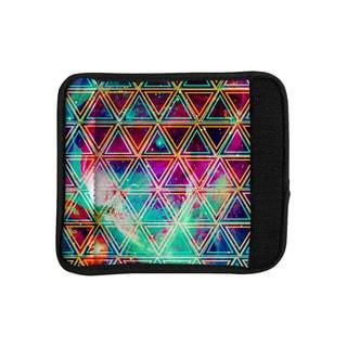 KESS InHouse Caleb Troy 'Neon Triangle Galaxy' Map Luggage Handle Wrap