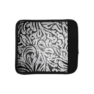 KESS InHouse Caleb Troy 'Black and White Paisley' Luggage Handle Wrap