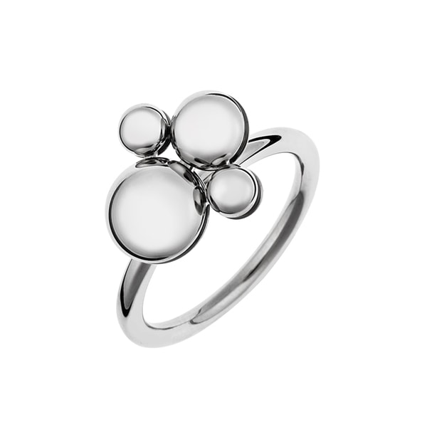 Calvin Klein White Stainless Steel Bubble Charm Liquid Ring