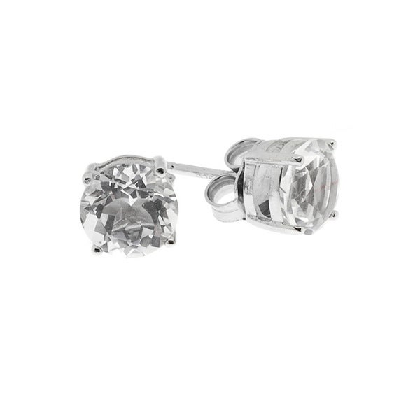 Sterling Silver Crystal Stud Earrings