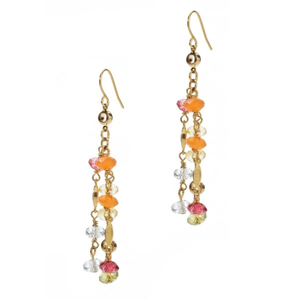 Relic Gold Overlay Beaded Earrings