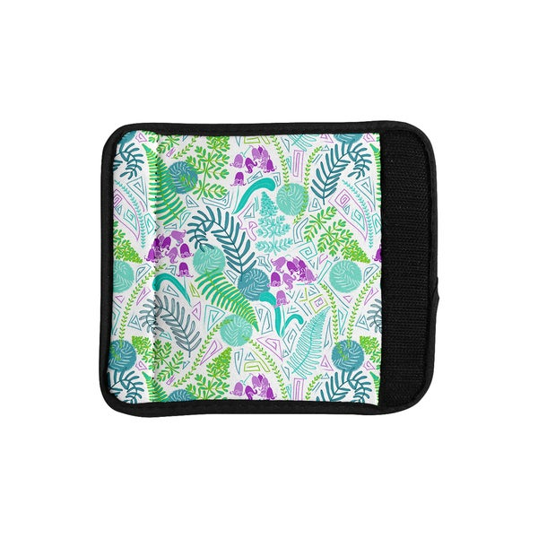 KESS InHouse Anneline Sophia 'Fern Forest' Blue Teal Luggage Handle Wrap