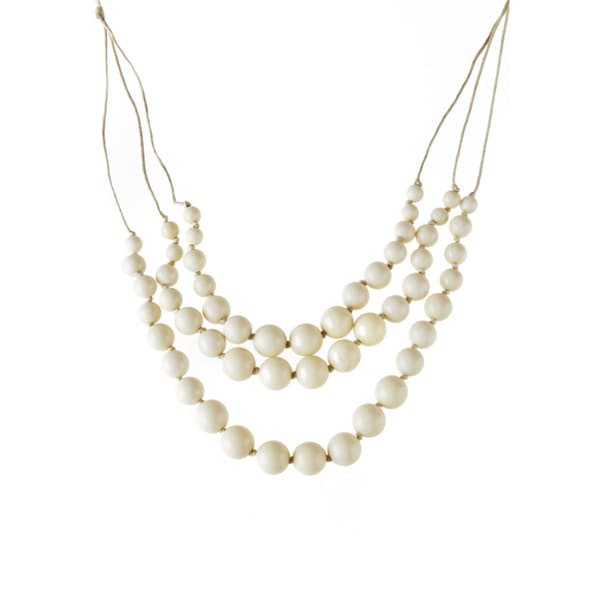 Relic White Beaded Fashion Necklace