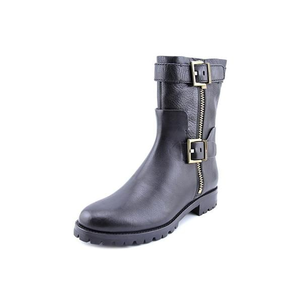 Aerin Women's Lacy Black Leather Boots