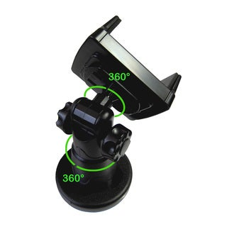 SmartCradle Black Synthetic Universal Windshield and Dashboard Car Mount Holder Bracket for Smartphones and GPS