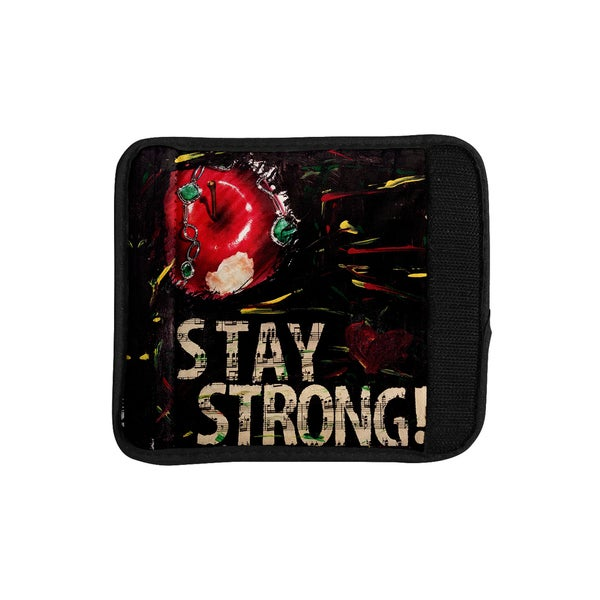 KESS InHouse Alexa Nicole 'Stay Strong' Luggage Handle Wrap