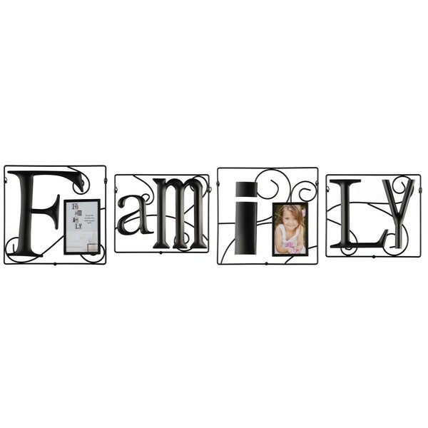 Family 4-piece Wire Photo Collage Frame