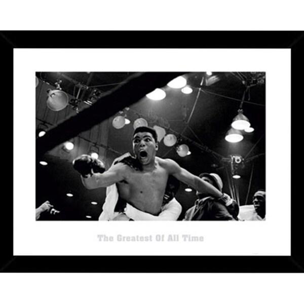 Muhammad Ali Print with Black Wood Frame