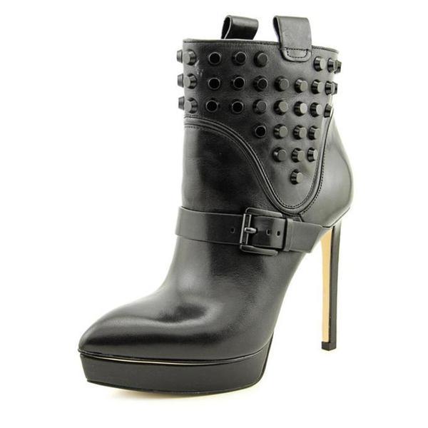 Michael Kors Women's Bryn Bootie Black Leather Boots