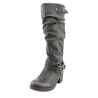 Carlos Santana Women's Cassie Black Faux Leather Boots