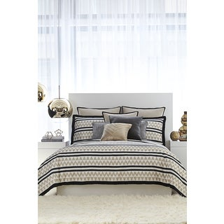 Vince Camuto Taos Black and Taupe Comforter Set