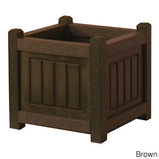 Eagle One Nantucket 12-inch x 12-inch Greenwood Commercial-grade Planter Box