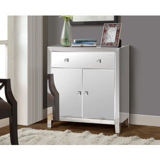 Gallerie Decor Reflections Glass and Wood Mirrored 2-door Cabinet