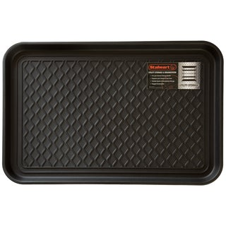 Stalwart 24 x 15-inch Black Eco Friendly Utility Boot Tray Mat