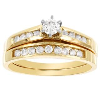H Star 14k Yellow Gold 1/2ct Diamond Bridal Set (I-J, I2-I3)