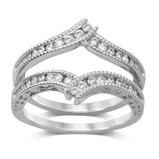 Unending Love 14k White Gold 2/5ct TDW Diamond Enhancer Ring (I-J, I1-I2)