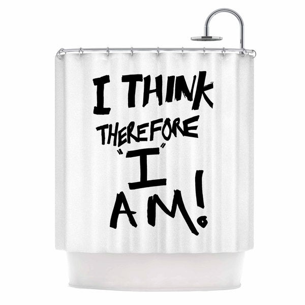 KESS InHouse Bruce Stanfield 'I Think, Therefore I Am' Shower Curtain (69x70)