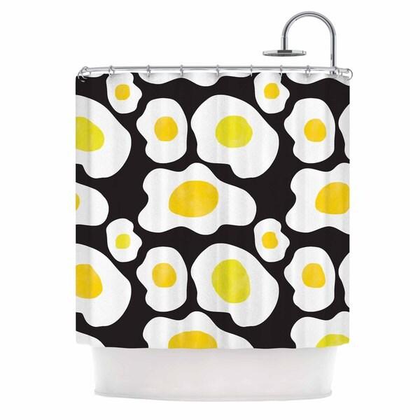 KESS InHouse Vasare Nar 'Fried Eggs Pattern' Shower Curtain (69x70)