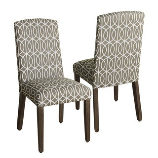 HomePop Finely Curved Top Parson Dining Chair - Set of 2