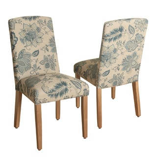 HomePop Lexie Curved Top Parson Dining Chair-Set of 2