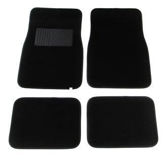 Apzona Black Polyester Four-piece Vehicle Carpet Floor Mats