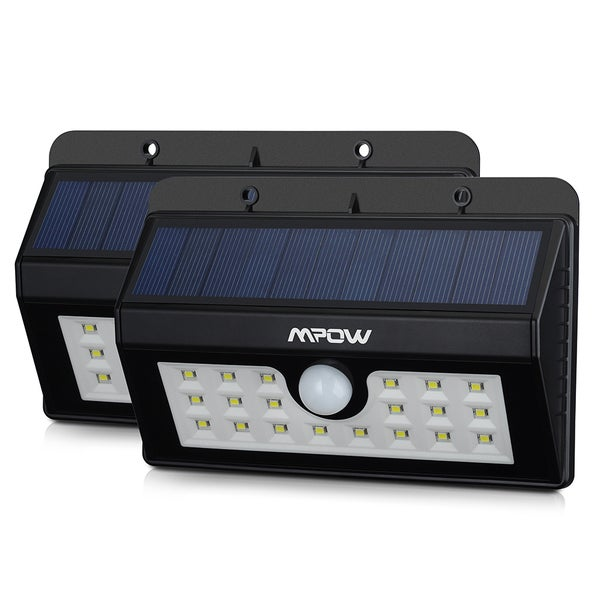 Mpow Solar Power Wireless Security Motion Sensor Light with 20 LED Bulbs (Set of 2)