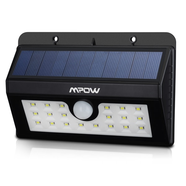 Mpow Super Bright Solar-powered Weatherproof Outdoor 20 LED Bulb Motion Sensor Light with 3 Intelligent Modes