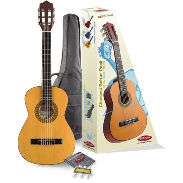 Stagg 1/4-size Classical Guitar Pack With Gig Bag and Pack of Strings