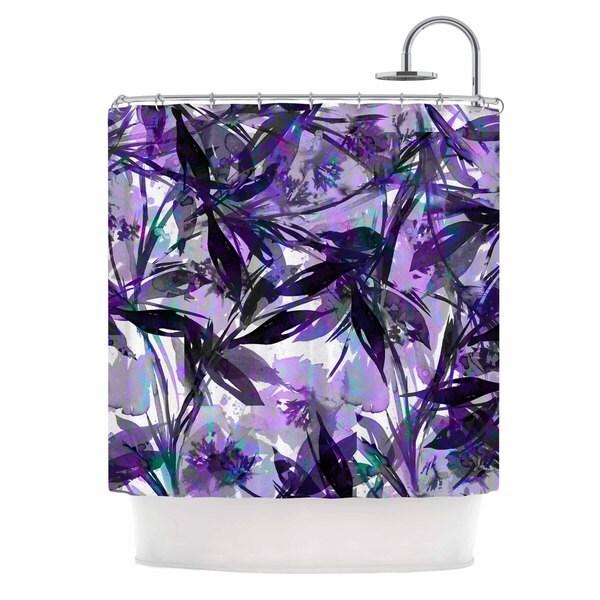 KESS InHouse Ebi Emporium 'Floral Fiesta Lavender' Shower Curtain (69x70) 19396167