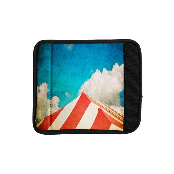 KESS InHouse Ann Barnes 'The Big Top' Red Blue Luggage Handle Wrap