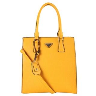 Mllecoco Saffiano Multi-colored Faux Leather Structured Shopper Tote Handbag