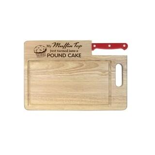 Ginsu Essential Series 'Muffin Top' Cutting Board with Santoku