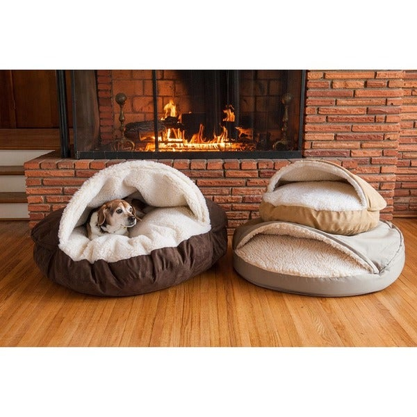 Snoozer Orthopedic Luxury Micro Suede Cozy Cave Dog/Cat Bed