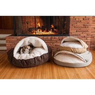 Snoozer Orthopedic Luxury Micro Suede Cozy Cave Pet Bed