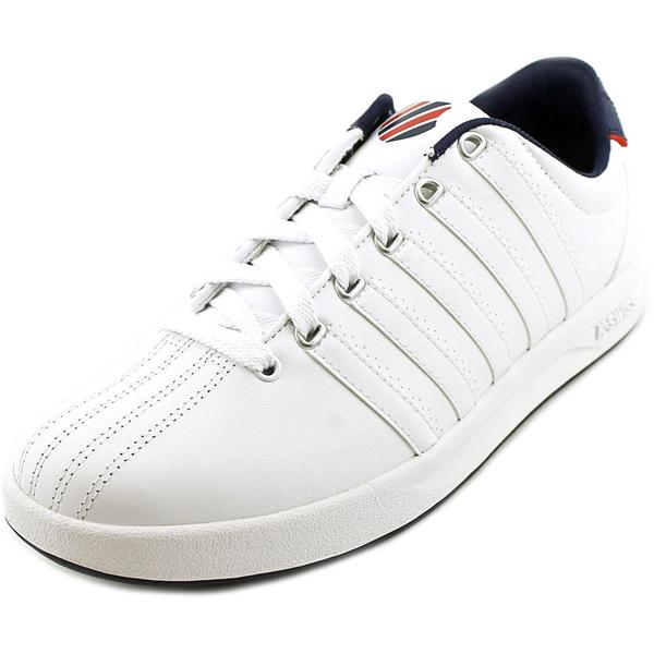 K-Swiss Men's Court Pro Low White Leather Athletic Shoes