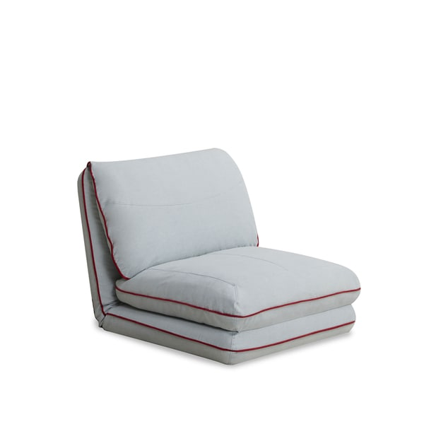 Irvine Sky Blue Convertible Chair Bed