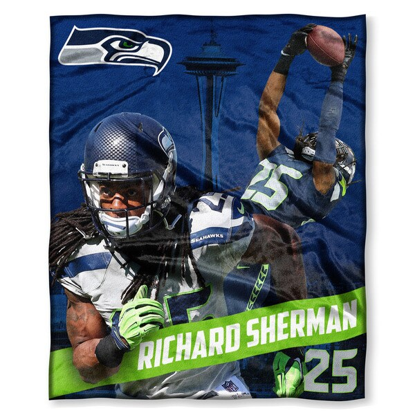 NFL 575 Seahawks - Richard Sherman Silk Touch Throw
