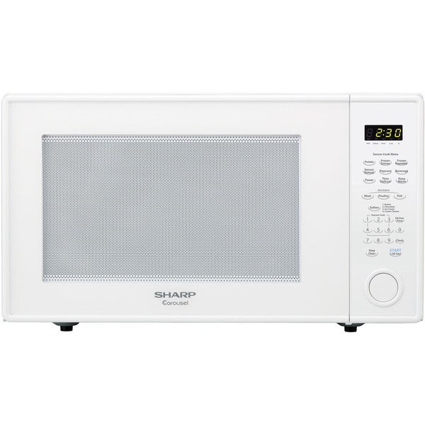 Sharp Carousel White 2.2-cubic-feet 1200W Countertop Microwave Oven