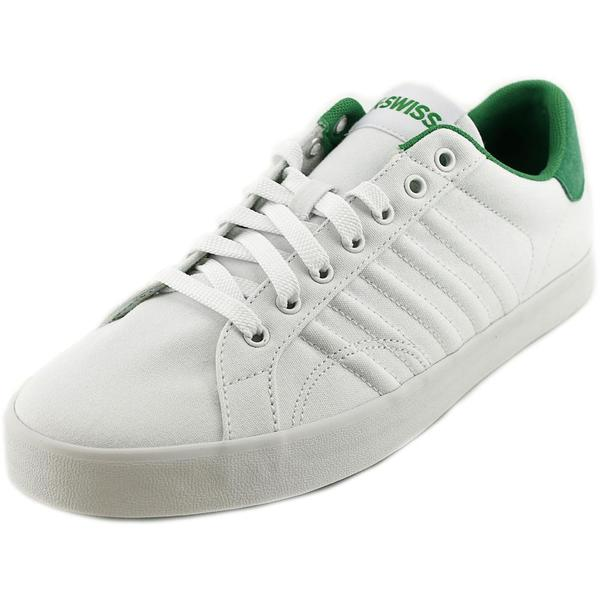 K-Swiss Men's Belmont T Low White Textile Basic Athletic