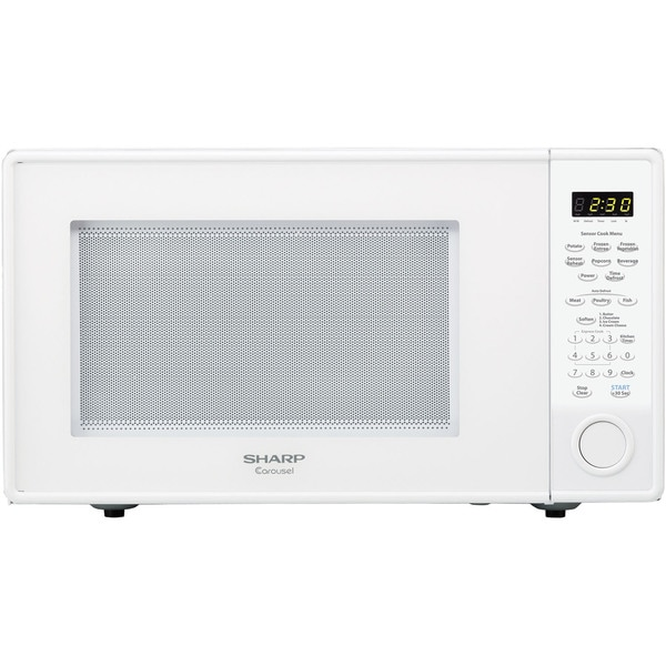 Sharp Carousel White 1.8 Cu. Ft. 1100W Countertop Microwave Oven