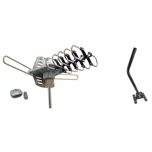 Outdoor Amplified HDTV/ UHF/ VHF Antenna 360-degree Motorized Rotation Kit