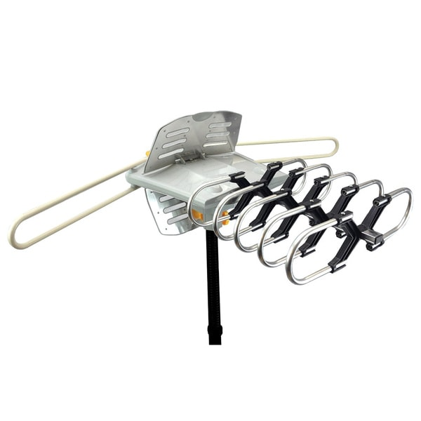 Amplified Outdoor Remote-controlled HDTV Antenna with UHF/VHF FM Radio and 360-degree Motorized Rotation Kit 19397760