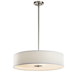 Kichler Lighting Transitional 3-light Brushed Nickel Pendant/Semi Flush Mount