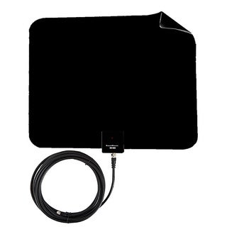 Supreme Amplified Razor 30 HDTV Indoor Flat Leaf Antenna with RG6 Cable