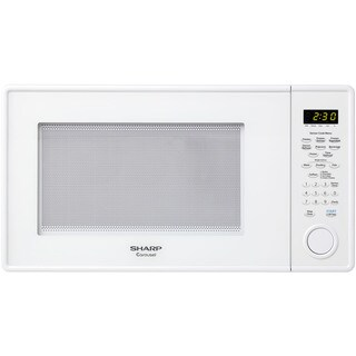 Sharp Carousel 1.3-cubic foot 1000-watt White Countertop Microwave Oven