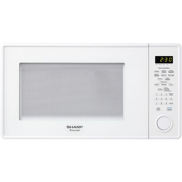 Sharp Carousel 1.3-cubic foot 1000-watt White Countertop Microwave Oven