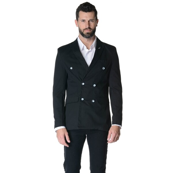 Men's Slim Fit Casual Double-breasted Sport Jacket